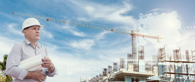 Промышленный коллаж с диаграммами Стоковая Фотография