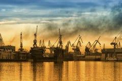 промышленный порт стоковые фото
