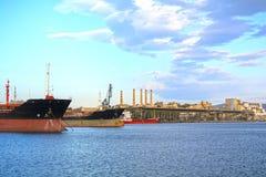 промышленный порт стоковое фото