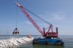 Промышленный плавая кран моря Стоковое фото RF