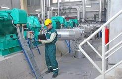 промышленный работник тетради Стоковые Изображения RF