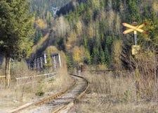 Промышленный рельс Bicaz - Bicaz Chei стоковое изображение