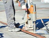 Промышленный сверлить бетона стоковое изображение