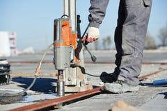Промышленный сверлить бетона стоковое фото rf