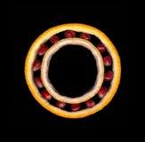 Промышленный стиль шарикоподшипника сделанный частей плодоовощей: апельсин, известка Стоковое Изображение RF