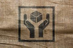 Промышленный характер штемпеля на сумке Стоковое фото RF