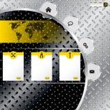 Промышленный шаблон вебсайта с металлической предпосылкой плиты иллюстрация штока