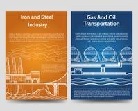 Промышленный шаблон рогулек брошюры Стоковые Изображения