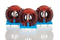 3 промышленных Toroidal дроссельной катушки Стоковая Фотография