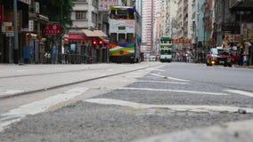 Проникните перспективу ` s в улице Гонконга сток-видео