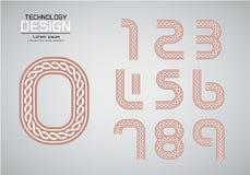 Пронумеруйте комплект номеров логотипа или концепции веревочки значка Стоковые Фотографии RF