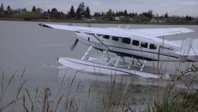 Пропеллер самолета воды плавая moving акции видеоматериалы