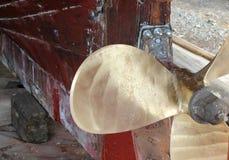 пропеллер шлюпки новый глянцеватый Стоковые Фото