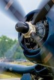 Пропеллер винтажного самолета Стоковые Изображения RF