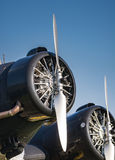 Пропеллер старого исторического воздушного судна Стоковые Фотографии RF