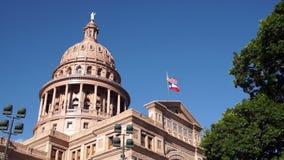 Прописное строя правительство Остина Техаса строя голубые небеса видеоматериал