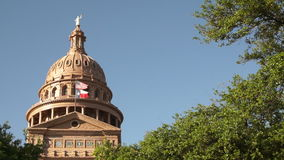 Прописное строя правительство Остина Техаса строя голубые небеса сток-видео