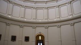 Прописное строя правительство Остина Техаса строя крытый лоток до купола видеоматериал