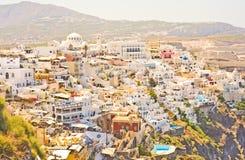 прописное thira santorini Греции Стоковые Фотографии RF