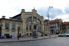 прописное wilia vilnius реки neris Литвы Рынок здоровый одна из самой старой в Вильнюсе, построенный в 1906 Во время конструкции  Стоковая Фотография RF