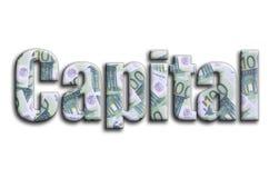прописно Надпись имеет текстуру фотографии, которая показывает много 100 счетов денег евро бесплатная иллюстрация