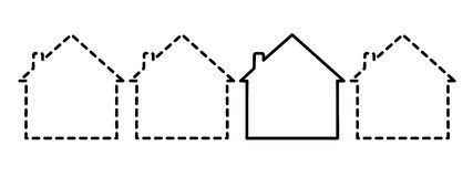 пропускание домов Стоковая Фотография RF