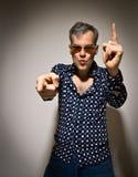 Пропускающ 70's - танцор диско Стоковое Фото