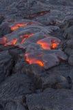 Пропуская лава в Гаваи Стоковое Изображение RF