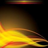пропуская красный цвет развевает желтый цвет Стоковые Изображения RF