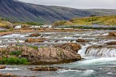 Пропуская река в Исландии Стоковое Изображение