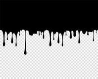 Пропуская толстый сгусток крови краски, карамелька, чернила Длиной, вязкостные падения Элемент дизайна вектора на изолированной п иллюстрация штока