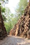 Пропуск ада, железнодорожное вырезывание пленом Kanchanaburi, стоковое фото