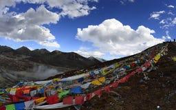 Пропуск горы Zheduo Стоковая Фотография