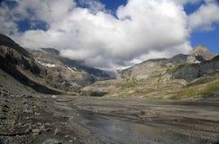 Пропуск и ледник Gemmi стоковое изображение