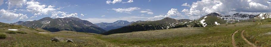 пропуск независимости hikers colorado панорамный Стоковое Изображение