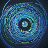 Пропуск сферы через кольца иллюстрация вектора