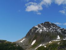 Пропуск Bernina или Passo del Bernina в Швейцарии стоковое изображение rf