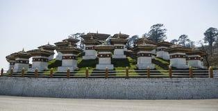 Пропуск Dochula, Punakha, Бутан Стоковая Фотография RF