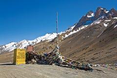 Пропуск FotoLa, Leh-Ladakh, Джамму и Кашмир, Индия Стоковая Фотография RF