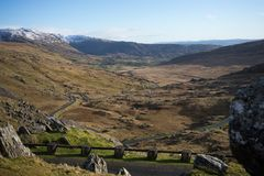 Пропуск Healy, Керри Co & пробочка графства, Ирландская Республика Стоковое фото RF