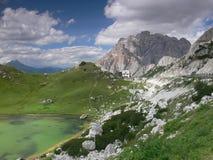 Пропуск Valparola, доломиты, Италия Стоковое Изображение