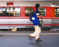 пропущенный поезд Стоковые Фото