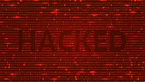 Прорубленная предпосылка искусства ASCII с словом иллюстрация штока