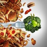 Прорыв диеты здоровья иллюстрация штока