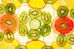 просвечивающее предпосылки fruity multi Стоковая Фотография