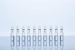 10 просвечивающих ампул с жидкостью внутрь Стоковое Фото
