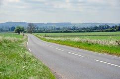 Проселочная дорога асфальта, национальный парк Dartmoor, Великобритания Стоковое Изображение