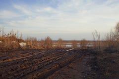 Проселочная дорога, грязь, внедорожная весна Стоковое фото RF