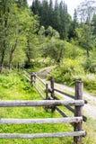 Проселочная дорога через поток стоковые фотографии rf