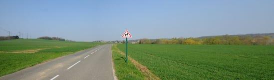проселочная дорога condecourt Стоковые Изображения RF